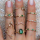 رخيصةأون خواتم-نسائي خاتم 9PCS أخضر سبيكة مناسب للبس اليومي مهرجان مجوهرات
