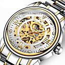 ieftine Ceasuri Bărbați-Bărbați ceas mecanic Mecanism automat Stil Oficial Oțel inoxidabil Negru / Argint / Auriu 50 m Gravură scobită Mare Dial Analog Lux Modă - Auriu Negru Argintiu