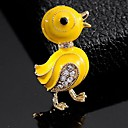 رخيصةأون خواتم-نسائي دبابيس بطة لطيف بروش مجوهرات أصفر من أجل مناسب للبس اليومي
