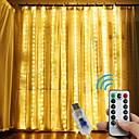 ieftine Set Becuri-loende 3x3m lumini perdea 300leds usb lumini de basm șir IP64 impermeabil 8 moduri lumini strălucitoare decorațiuni pentru petreceri
