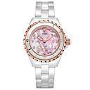 ieftine Cuarț ceasuri-Pentru femei Quartz Quartz Ceramică Alb 30 m Rezistent la Apă Ceas Casual Analog Casual Elegant - Roz Îmbujorat Un an Durată de Viaţă Baterie / Oțel inoxidabil