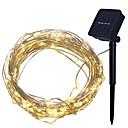 رخيصةأون المكياج & العناية بالأظافر-4M أضواء سلسلة 40 المصابيح أبيض دافئ ديكور مدعوم بالطاقة الشمسية 1SET