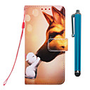 رخيصةأون أغطية أيفون-الحال بالنسبة لتفاح iphone xr / iphone xs max wallet / holder card / with stand كامل الجسم الحالات hound kiss pu leather iphone 6s / 6s plus / 7/7 plus / 8/8 plus / x / xs