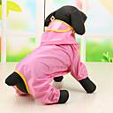 رخيصةأون ملابس وإكسسوارات الكلاب-كلب هوديس معطف المطر ملابس الكلاب تيريليني كوستيوم من أجل ربيع & الصيف مقاومة الماء