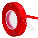 رخيصةأون جسم السيارة الديكور والحماية-1CM * 3M أحمر شفاف سيليكون لاصق على الوجهين الشريط للسيارة عالية القوة لا آثار لاصق ملصق models10mm * 3 أمتار