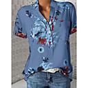 رخيصةأون قلادات-نسائي قياس كبير قميص, ورد V رقبة نحيل