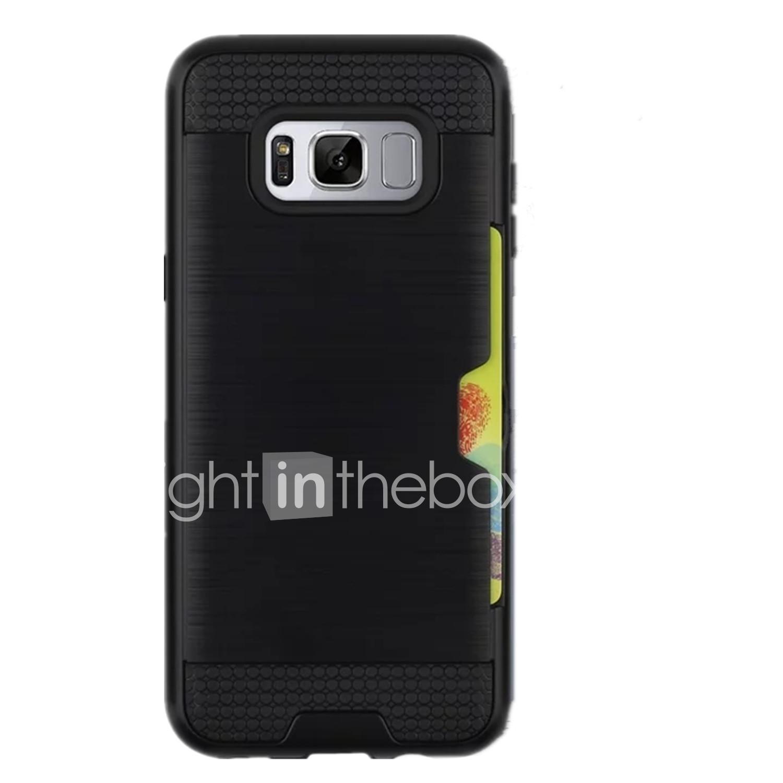 Hülle Für Samsung Galaxy S8 Plus S8 Kreditkartenfächer Rückseite Volltonfarbe Hart PC für S8 Plus S8