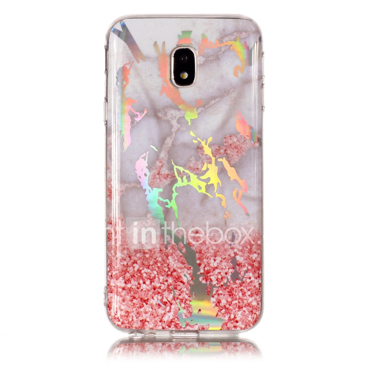 6da1385273a Case For Samsung Galaxy J6 / J4 Plating / IMD / Pattern Back Cover Marble  Soft