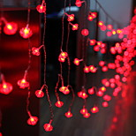 billiga -2m Ljusslingor 104 lysdioder Röd Dekorativ 220-240 V 1set