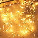 billiga -10m Ljusslingor 100 lysdioder Varmvit Dekorativ AA Batterier Drivs 1set