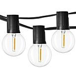 billiga -7.62M Ljusslingor 12 lysdioder EL Varmvit Vattentät / Party / Dekorativ 110-120 V 1set