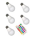 billiga -5pcs 5 W Smart LED-lampa 350 lm E26 / E27 A60(A19) 3 LED-pärlor SMD 5050 Smart Bimbar Party RGBW 85-265 V