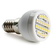 e14 led spotlight 24 smd 3528 60lm blanco cálido 2700k ca 220-240v