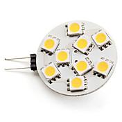 g4 led spotlight 9 smd 5050 100lm blanco cálido 2800k dc 12v