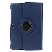 Etui Til Samsung Galaxy Samsung Galaxy Note med stativ Flipp 360° rotasjon Heldekkende etui Helfarge PU Leather til Note 10.1