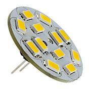 1.5w g4 led spotlight 12 smd 5730 130-150lm blanco cálido 2700k dc 12v