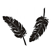 Lite Feather Pattern bil dekorative klistremerke