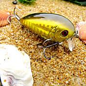 pcs Señuelos duros Manivela Blanco Oro Rojo g/Onza mm pulgada,Plástico duro Pesca de Mar Pesca de agua dulce