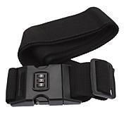 CJSJ Excelente Contraseña correa de la empuñadura con nombre Etiqueta para equipaje y maleta-Negro