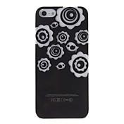 Flower & Bird cubierta Patrón de plástico duro caso del flash LED para iPhone5