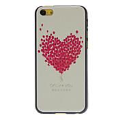 아이폰 5C 신선한 디자인 로즈 풍선 심장 모양의 패턴 하드 케이스