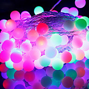 Tiras de Luces RGB Cuerdas de Luces lm AC220 V 9 m 52 leds RGB