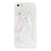 아이폰 5/5S를위한 신부와 웨딩 드레스 본 PC 단단한 상자에있는 신랑
