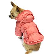 강아지 코트 후드 강아지 의류 통기성 솔리드 핑크 코스츔 애완 동물