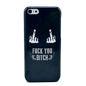 Fuck Off Hard Case Negro para iPhone 5C