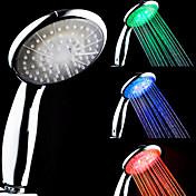 3-Color termosensible del LED de color cambiante ducha de mano