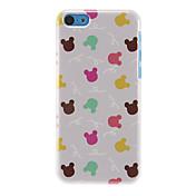 아이폰 7 7 플러스 기가 6 플러스 자체 5 초 다채로운 토끼 패턴 하드 케이스도 5c 5 4S 4