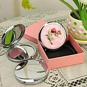 Personalizada Regalos Blossom Pink Style Chrome Espejo compacto