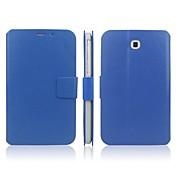 용 삼성 갤럭시 케이스 스탠드 / 플립 케이스 풀 바디 케이스 단색 인조 가죽 Samsung Tab 3 7.0