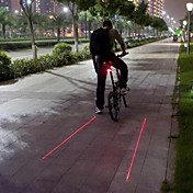 Luces para bicicleta Luz Trasera para Bicicleta Láser LED Ciclismo Impermeable Láser Advertencia Bisel de Impacto Luz LED Lumens Batería