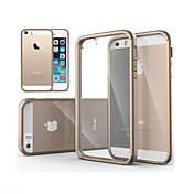 Etui Til iPhone 5 Etui iPhone 5 Gjennomsiktig Bakdeksel Helfarge Hard PC til iPhone SE / 5s / iPhone 5