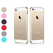 Para Funda iPhone 5 Ultrafina / Transparente Funda Acolchada Funda Un Color Dura Metal iPhone SE/5s/5