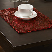 Moderno Poliéster Rectangular Juego de Mesa Bordado Decoraciones de mesa
