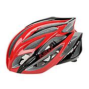 FJQXZ 일체형으로 성형 된 EPS는 + PC 빨간색 자전거 헬멧 (21 통풍구)