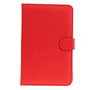 7inch Caja universal de la PU Bolsa de cuero con el soporte y Micro USB de teclado para Tablet PC