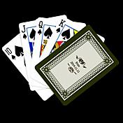 포커 게임 카드 개인화 된 선물 회색 꽃 패턴