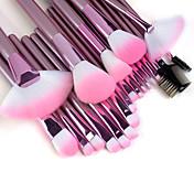 Set de 22 Piezas de Pinceles de Maquillaje Profesionales de Alta Calidad con Mango Rosa