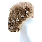 Mujer Niña de flor Aleación Perla Artificial Celada-Boda Ocasión especial Pasador de Pelo 2 Piezas