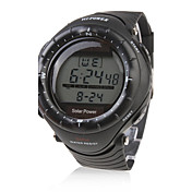 Hombre Reloj Deportivo Reloj de Moda Reloj de Pulsera Cuarzo Silicona Banda Negro Negro