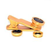 lente universal de gran angular del fisheye universal del clip para el teléfono móvil universal para el iphone 8 7 samsung galaxia s8 s7