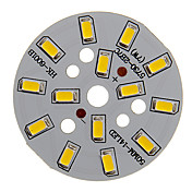 7w 600-650lm varmt hvitt lys 5730smd integrert ledermodul (21-24v)