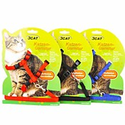 Gato Correas Ajustable / Retractable Nailon Negro Rojo Azul