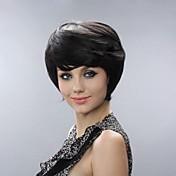 Sin tapa corta de alta calidad pelucas de pelo sintético bang lado 2 colores disponibles