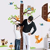 Createforlife ® 만화 나무 높이 차트 아동 보육 방 벽 스티커 벽 예술 전사 술