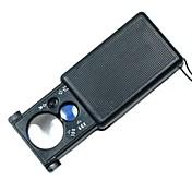 30x 60x multipropósito tipo retirada lupa con la luz llevada blanca y púrpura luz de detección de divisas
