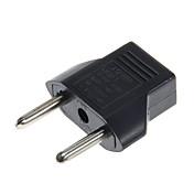 adaptador de enchufe de corriente alterna de convertidor de enchufe plano a redondo, alta calidad, duradero